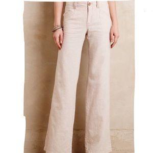Anthropologie Pilcro Linen Wide Leg Pants - 0P